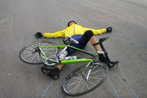 cyclist-falling